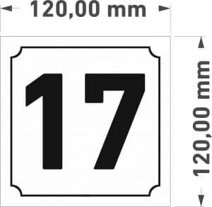 namo numeriai lentele 120x120mm