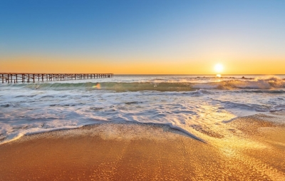 rgn-5475 fotolia 97415214 2540x4000 dangus nebo saule sonce zakat saulelidis vanduo voda tiltas most jura more